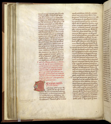 Zoomorphic Initial, In Pseudo-Isidore's 'Papal Decrees' f.46v